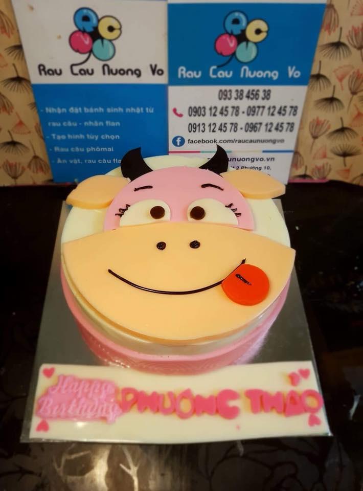 Bánh rau câu sinh nhật Tuổi Sửu