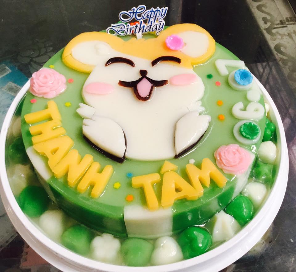 Bánh sinh nhật rau câu Tuổi Tí
