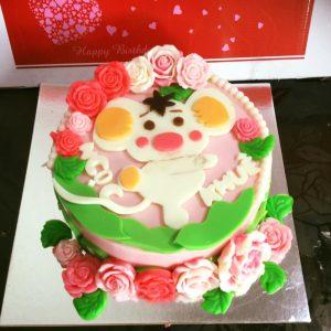 Bánh sinh nhật rau câu Tuổi Tí - Con Chuột