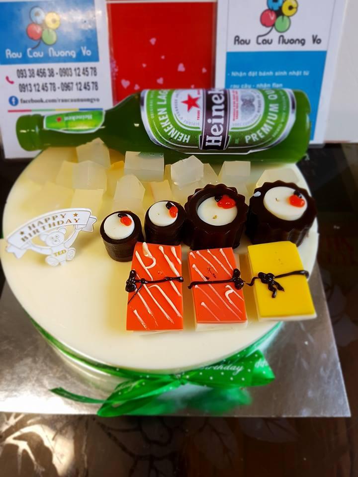 Bia Heineken & Sushi (1 mẫu)